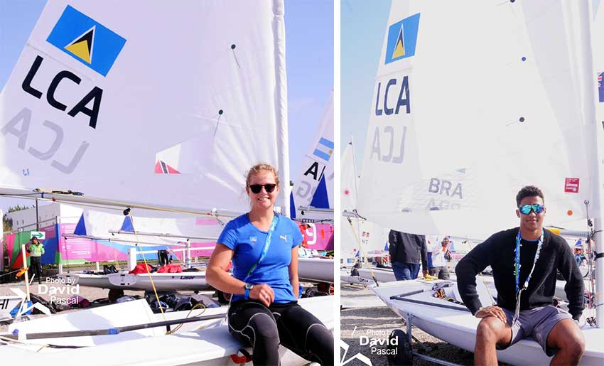 Image: (L-R) Stephanie Lovell is eager for the sailing competition to start; Luc Chevrier is prepared and ready to compete. (PHOTO: David Pascal)