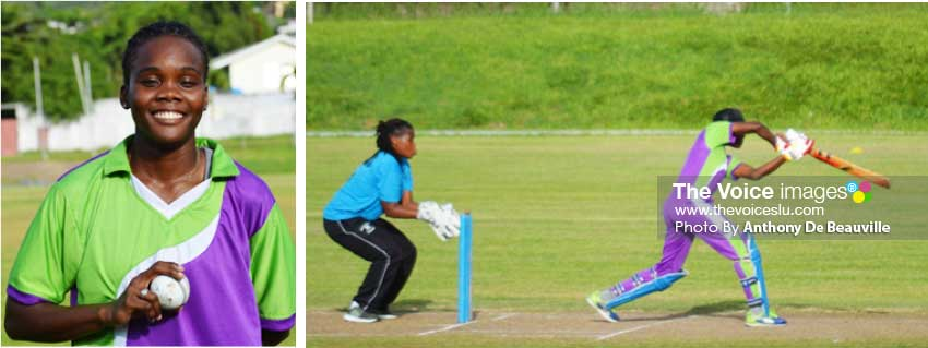 Image: Teeadie Crawford (South Castries) picked up 3 for 21; Captain Nerissa Crafton (South Castries) top scored with 44. (Photo: Anthony De Beauville)
