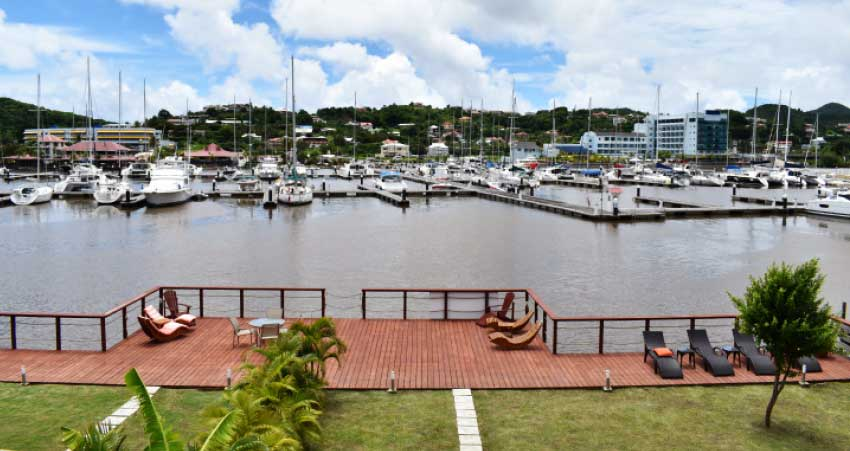 View from the Waters Edge Villas by Bay Gardens.