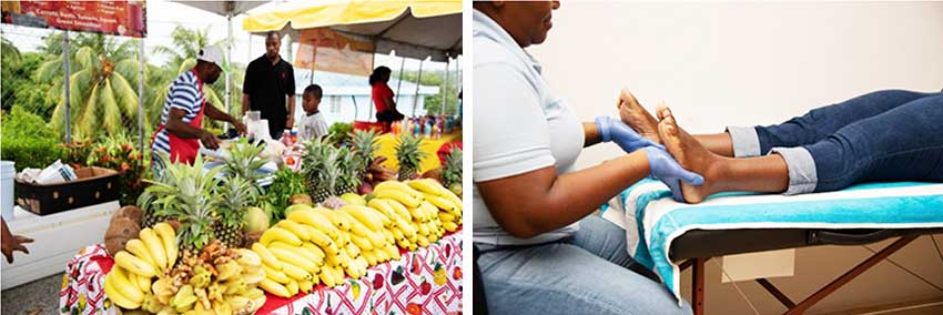 Image: The smoothie and foot massage tent were kept busy throughout the day. (Photo: NAGICO)