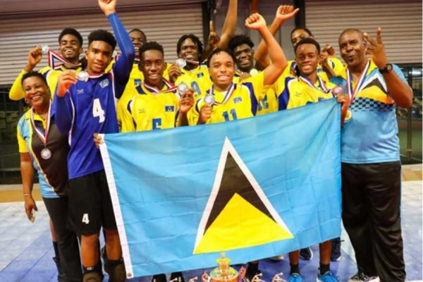 Image: Saint Lucia 2019 ECVA Under 20 male champions. (Photo: ECVA)