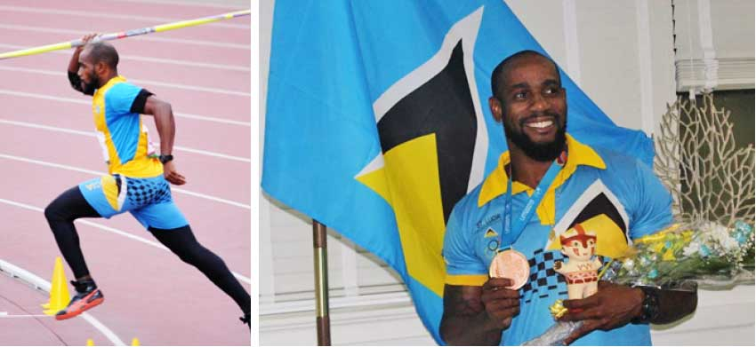 Image: Pan Am bronze medal winner in the javelin throw, Albert Reynolds. (Photo: DP)