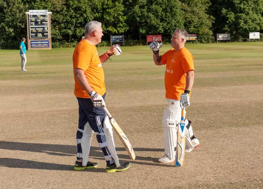 Image: Prime Minister Allen Chastanet and cricketing legend Darren Gough.