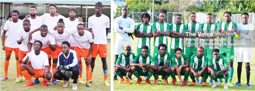 Image: (L-R) Arch rivals Laborie and Vieux Fort South to square off for quarter final spot. (Photo: Anthony De Beauville)