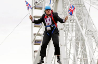 Image: Boris Johnson... first flying sky-high on Brexit, until his chances of breezing through an early general election before Brexit went blowing with the wind. (Photo Courtesy: The Guardian)
