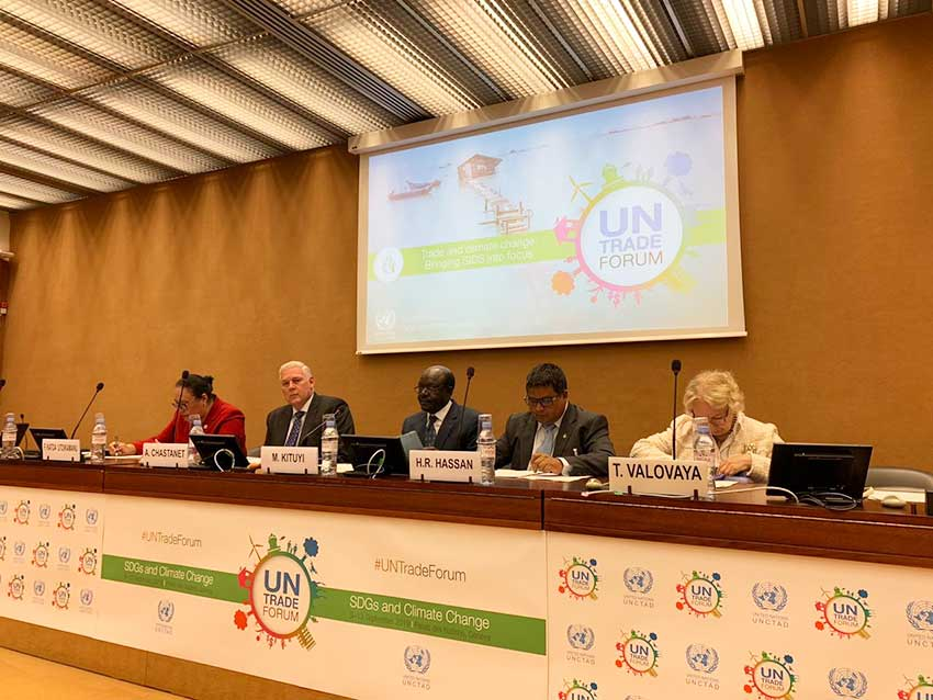 Image: Prime Minister Honourable Allen M. Chastanet attending the UN Trade Forum in Geneva