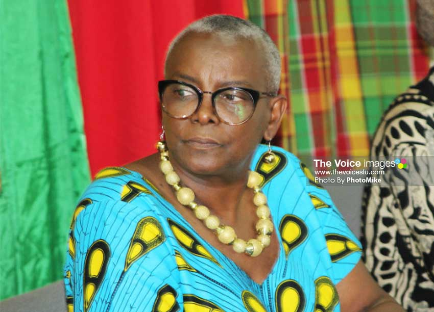 Image of Culture Minister Fortuna Belrose. [Photo: PhotoMike]