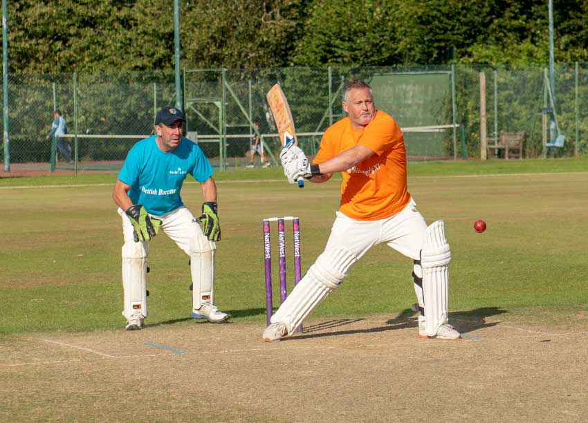 Image: Darren Gough in fine form.