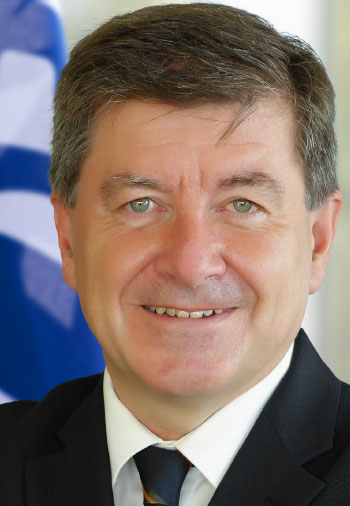 Image of Guy Ryder, Director-General of the ILO says the adoption of the new resolution is an important step towards ensuring the prioritization of a human-centred approach to the future of work.
