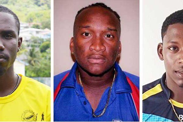 Image: (L-R) Jamal James, Denzil James and Tonius Simon. (Photo: AD/SPL)