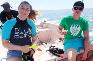 Image: Marine Biology Students working in the field.