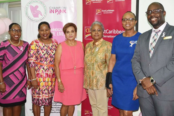 Image: Representatives of the BCS Breast Screening Programme, CIBC FirstCaribbean and Harris Paints are set to Walk for the Cure once again.