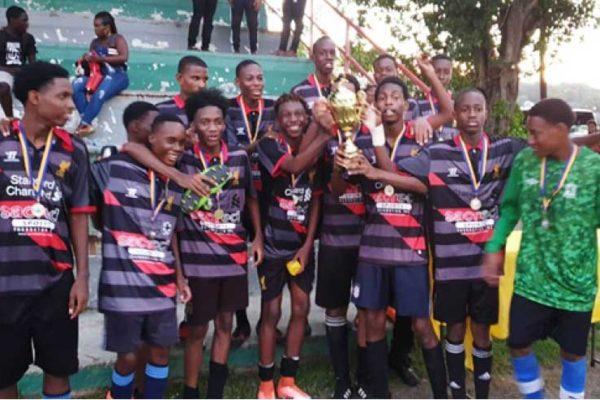 Image: SLFA Northern Zone U17 champions Pioneers FC celebrate. (Photo: MP)