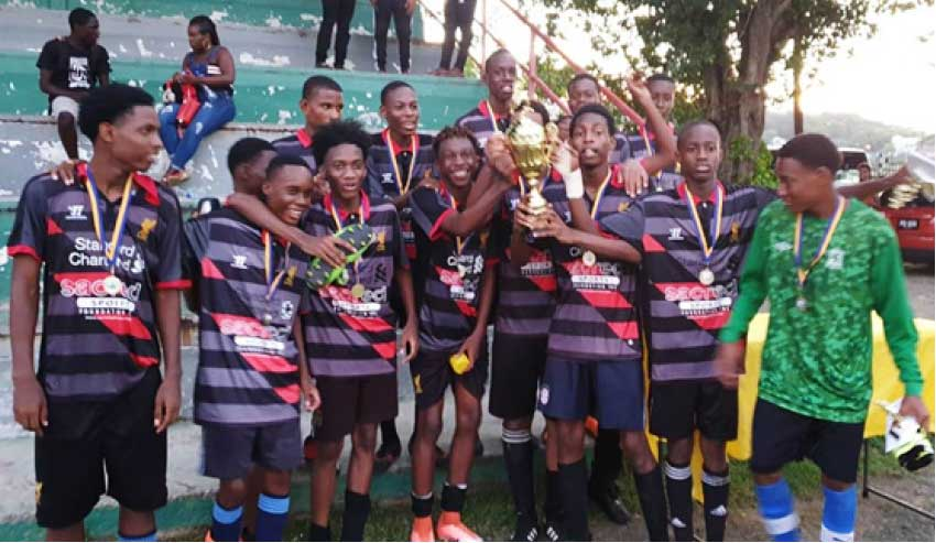 Image: SLFA Northern Zone U17 champions Pioneers FC celebrate. (Photo: MP)