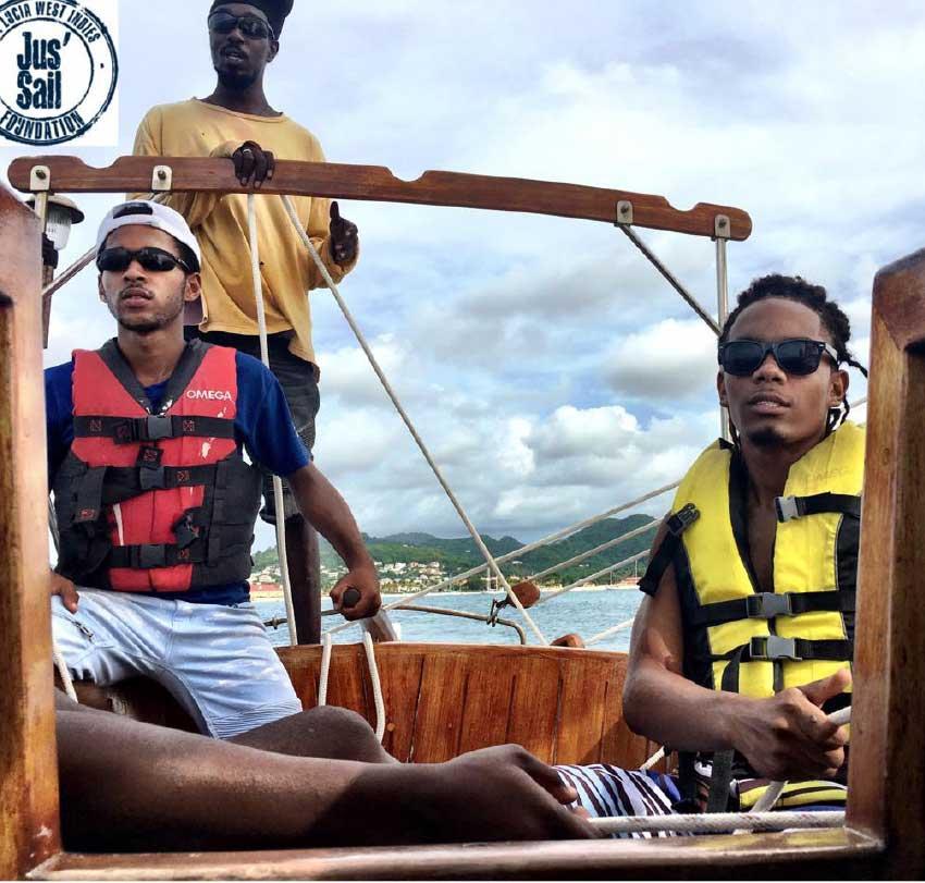 Image: Tyrus Antoine training with Jus' Sail.