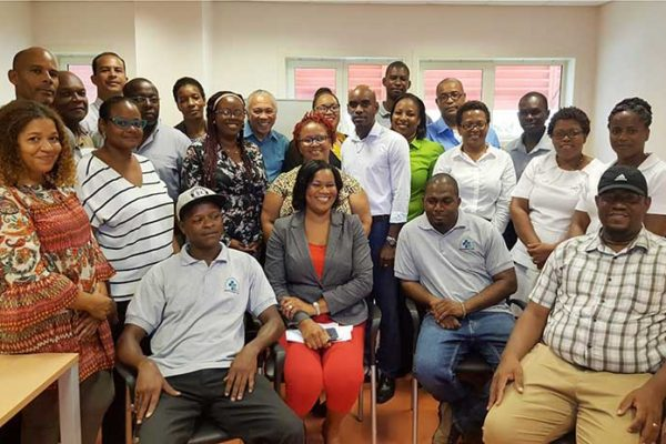 Image: The delegation from the University Hospital of Martinique with representatives from Saint Lucia's health sector.
