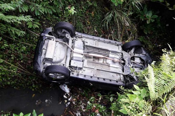 Image of the vehicle the students were travelling in.