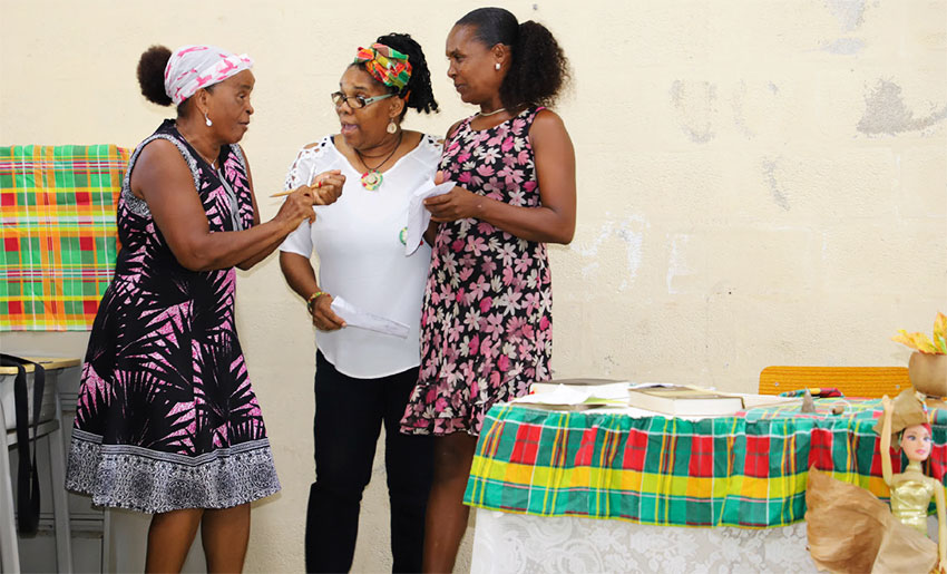 Image: A group from Patience making a cultural presentation at the event.