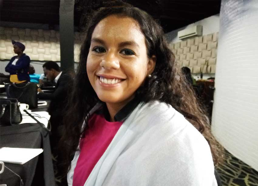 Image of Alexandra Viloria, a participant of the just concluded CAFRA workshop on Comprehensive Sexuality Education for the Caribbean.