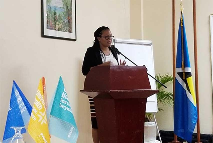 Image of Dr. Shana Cyr-Philbert, Senior Medical Officer (chronic diseases) Ministry of Health of Saint Lucia.