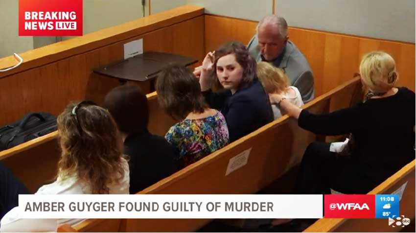 Image: Family of the former police officer charged with the murder of Botham Jean inside the courtroom on October 1.