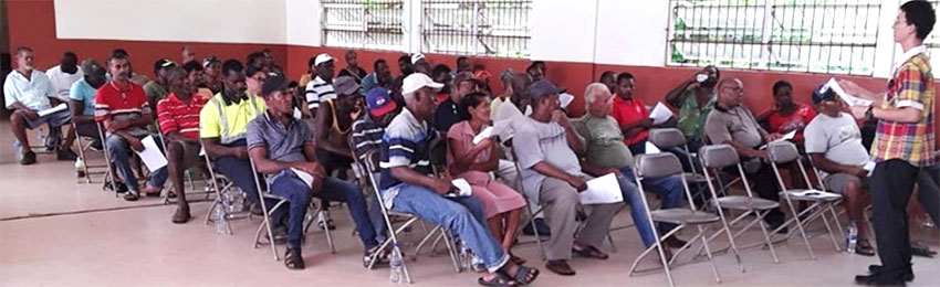 Image of farmers during the training session.