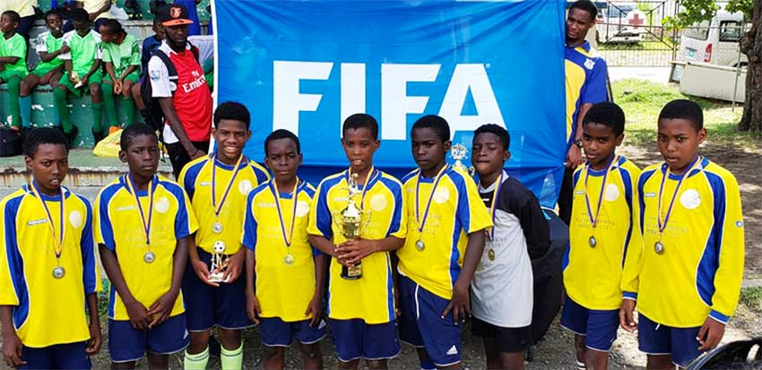 Image: Fond Assau Primary School had to settle for the bronze medal. (Photo: CD)