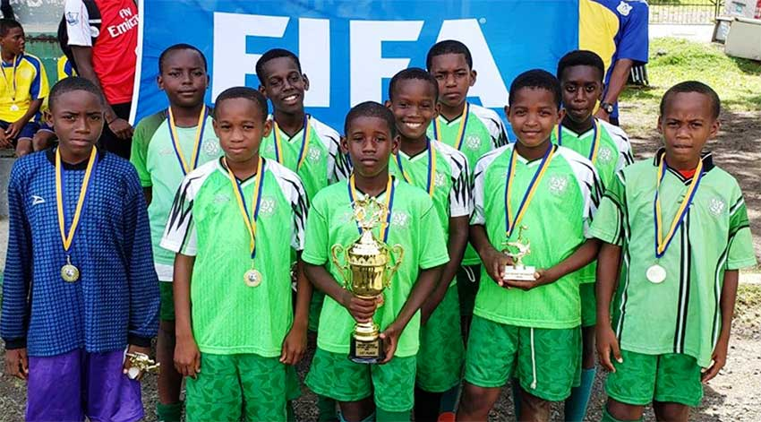 Image: Gros Islet Primary School 2019 District 1 champions. (PHOTO: CD)