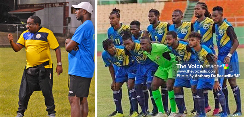 Image: Head and Assistant Coach Jamaal Shabazz and Francis Lastic will want nothing less than a win on home turf this evening; Saint Lucia set to turn up the heat against El Salvador today at the DSCG. (PHOTO: Anthony De Beauville/MP)