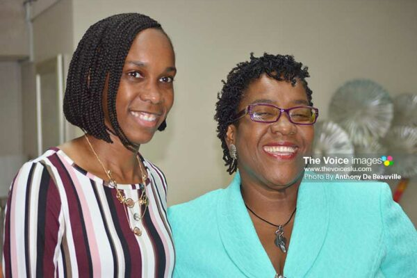 Image of Levern Spencer and Deputy PS, Ministry of Tourism, Suzette Jean