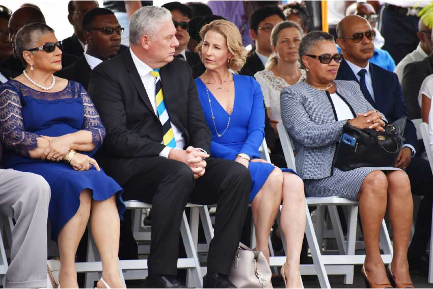 Image: Dignitaries and guests at this week's unveiling ceremony. PM Chastanet and wife Raquel DuBoulay Chastanet (center).