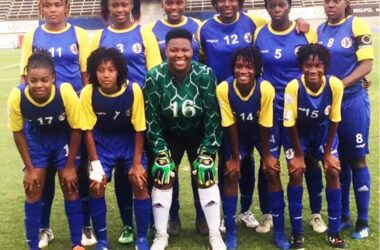 Image: Team Saint Lucia's starting eleven against USVI on Wednesday. (Photo: EM)