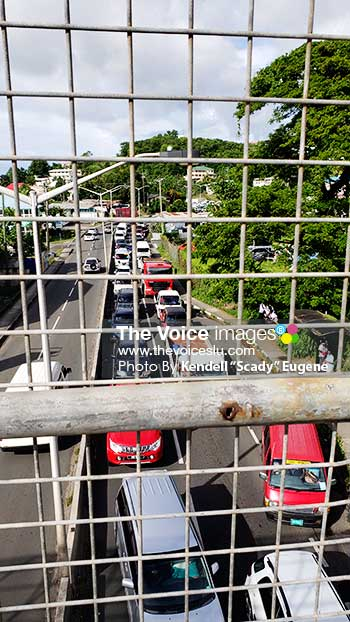 Image: South bound Traffic Congestion on the Castries to Gros Islet Highway