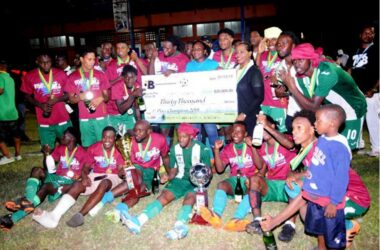 Image: Vieux Fort South celebrate their fourth consecutive Blackheart championship win. (Photo: DP)