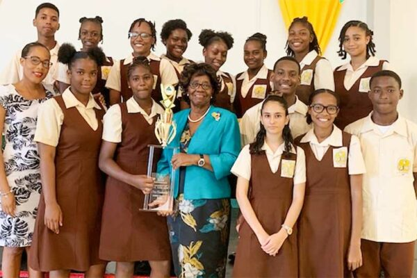 Image: Winning smiles from Entrepot Secondary School students.