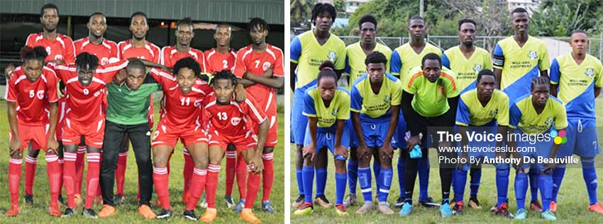 Image: (L-R) Winning teams on Sunday, Mabouya Valley and Gros Islet. (PHOTO: Anthony De Beauville)
