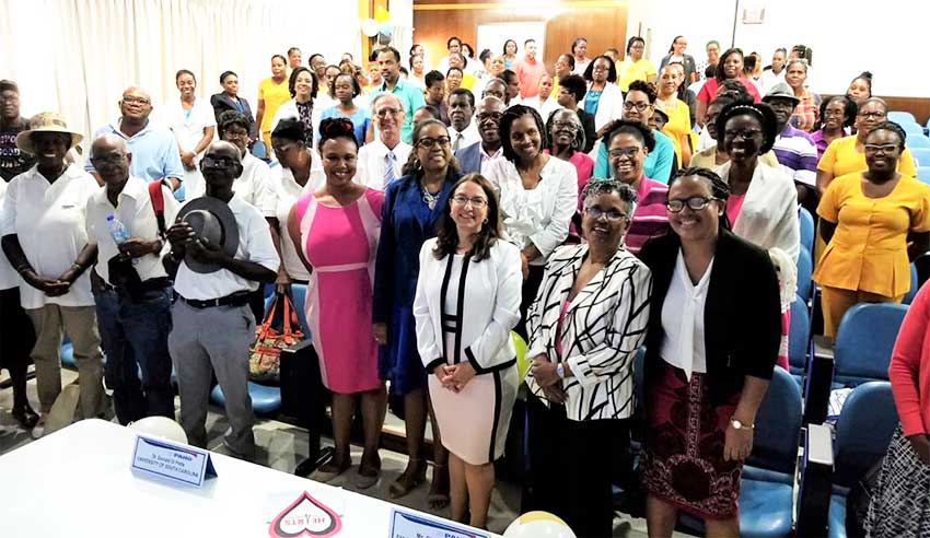 Image: The launch of the Hearts initiative in Saint Lucia.