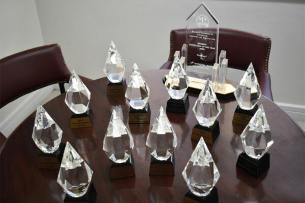 Image of the 12 St. Lucia Business Awards won by 1st National Bank.