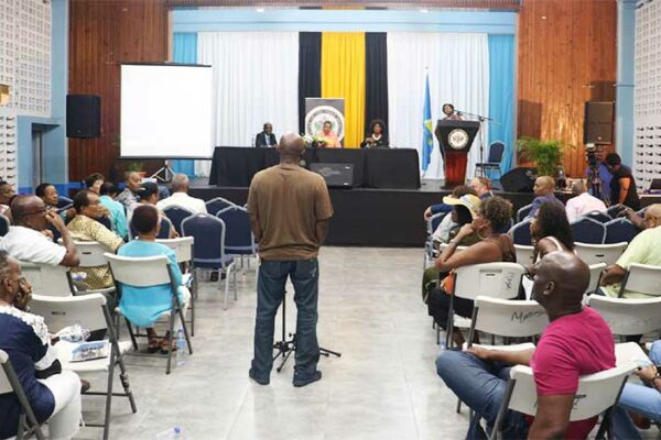 Image: A meeting held last weekend at the Castries City Hall got underway with the objective of welcoming and informing the 'returning/returned diaspora' on the island's development, investment and skill sharing opportunities.