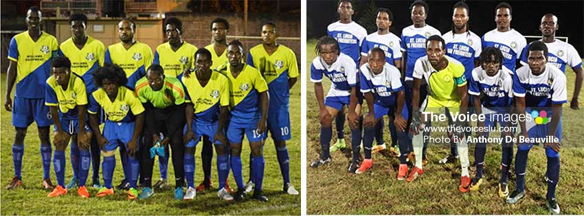 Image: (L-R) Island Cup defending champion Marchand takes on Blackheart Super 8 champion Gros Islet tonight. (Photo: Anthony De Beauville)