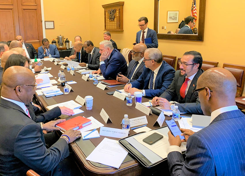 Image: Meeting between CARICOM and US Financial Services Committee members.