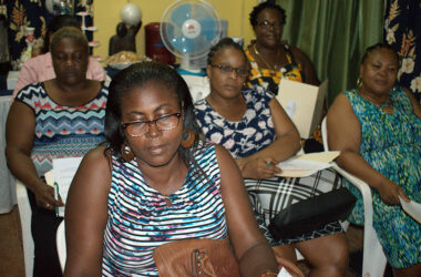 Image of Micro entrepreneurs at Tuesday night's workshop