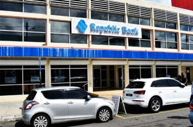 Image of Republic Bank, formerly Scotiabank, on the William Peter Boulevard, Castries.
