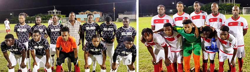 Image: (L-R) SLSO Monchy and Twist Dominators played to a 2-2 draw in the tournament opener. (PHOTO: GIFL)