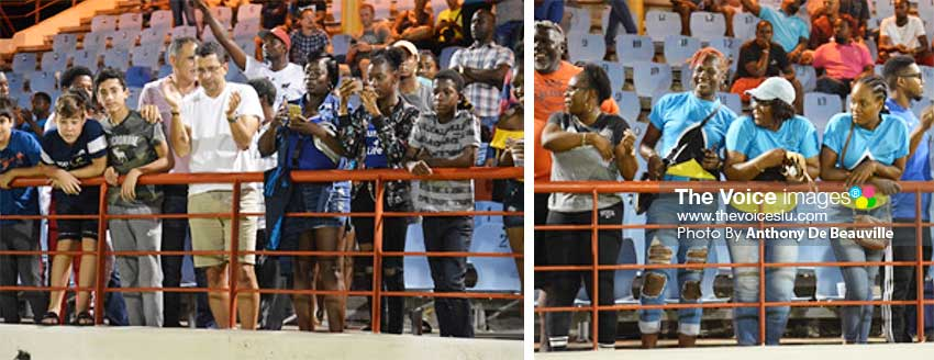 Image: (L-R) Saint Lucians and visitors alike came out to support their respective teams. (PHOTO: Anthony De Beauville)