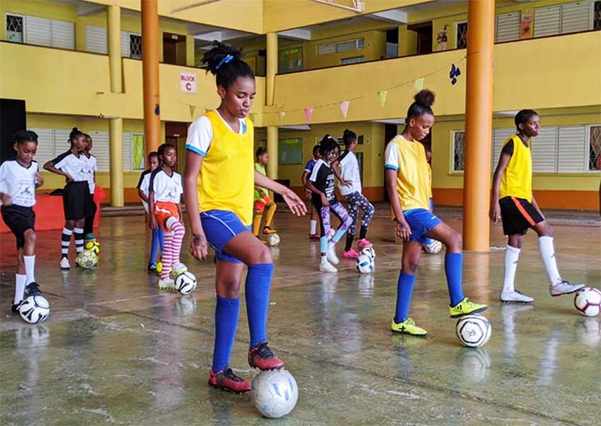 Image: The 1st National Bank Kick It Destiny! Girls Grassroots Football Festival aims to help participants develop self-confidence on and off the field.