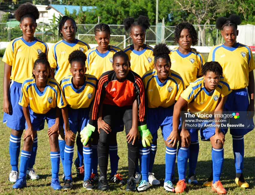 Image: Tournament leaders Canaries took on Vieux Fort South last evening. (PHOTO: Anthony De Beauville)