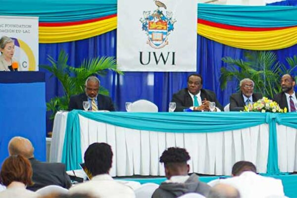 Image: Conference on Emigrant policies in the Caribbean and Central America: Migration at the crossroads between Europe and Latin America hosted by The UWI Five Islands Campus and organised by the European Union-Latin America and Caribbean (EU-LAC) Foundation.