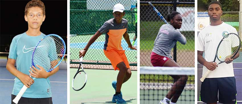 Image: (L-R) Nominees for Team of the Year; Joey Angeloni and Arden Rosemond; Rosemond will also vie for Junior Tennis Player of the Year; Meggan Williams, nominee for senior female Tennis Player of the Year and Maxx Williams, nominee for senior male Tennis Player of the Year. (PHOTO: Anthony De Beauville/MW)