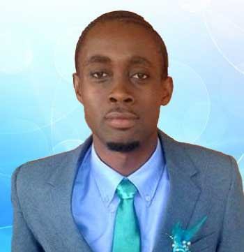 """Image of Up and coming Saint Lucian writer Kerwin """"cakes"""" Caesar."""